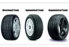 Tyre tread patterns and their purpose for different driving conditions